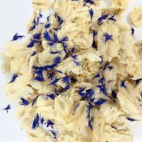 Biodegradable WEDDING CONFETTI IVORY FLUTTERFALL Blue Navy Dried Flower Petals