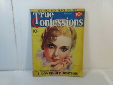 True Confessions October 1936 Ida Lupino I Loved My Doctor  eb2951