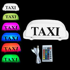 "Taxi Roof Sign Magnetic Top Sign 1.5"" LED lights ECONOMY Remote Control Colorful"