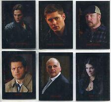 Supernatural Seasons 4-6 Complete Chromium Character Bios Chase Card Set C1-6