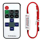 12V Wire RF Wireless Remote Switch Controller Dimmer for LED Mini Strip Light