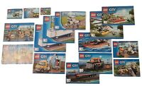Lego City Instruction Manual Books Only for Construction and Building Bundle Lot
