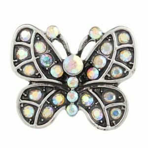 Snap Jewelry Butterfly Love Ginger Fit 18mm Button Bracelet Necklace Charms Pop
