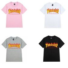 NEW Hip-hop skateboard Flame Thrasher Tee Personalized Short Sleeve T-shirt Tops