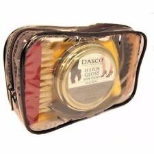 Dasco Shoe Cleaning Care Kit Set Leather with Polish Brush Travel Case 7 Piece