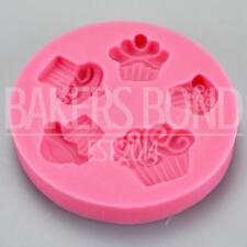 Multi Cupcakes Silicone Mould Baking Five Bakeware Chocolate Cupcake Cake Topper
