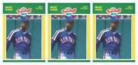 (3) 1989 Fleer Baseball MVP's Baseball #14 Dwight Gooden Lot New York Mets