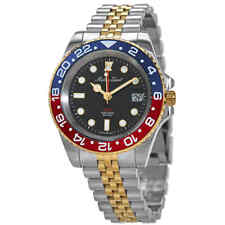 Mathey-Tissot Rolly Vintage GMT Two-tone Black Dial Pepsi Bezel Men's Watch