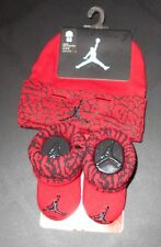 Nike Infant Baby Booties & Hat Cap Gift Set Red & Black 0-6 Months