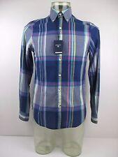 "Authentic Gant ""Handloom Madras"" Long Sleeve Striped Shirt. Size S, BNWT"
