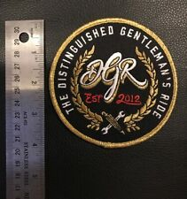 "4"" The Distinguished Gentleman's Ride Iron-on patch"