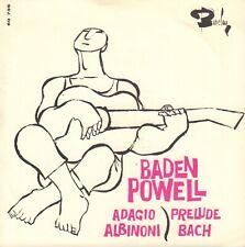 "BADEN POWELL – Adagio - Prelude (60's JAZZ VINYL SINGLE 7"" FRANCE)"