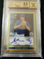 Steve Steven Matz 2009 Bowman Chrome 1st RC Auto Gold Refractor BGS 9.5 10 17/50