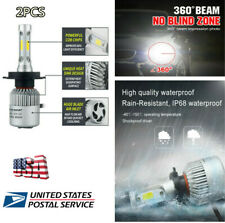 Car H4 LED Headlight Fog Light Bulb COB Chip  360° Heat Radiating High Low Beam
