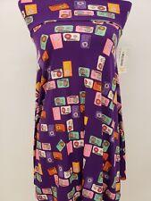 New LuLaRoe Azure Skirt XS purple pink blue orange cassettes tapes retro