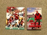 NEBRASKA CORNHUSKER FOOTBALL TOM OSBORNE SIGNED BOOK & CHRISTIAN PETER PHOTO LOT