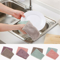 6pcs Anti-grease Dishcloth Duster Wash Cloth Hand Towel Cleaning Wiping Rags  X