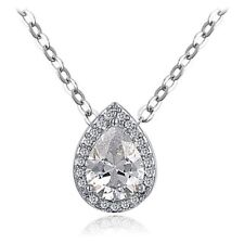 Water Drop Pear Cut Necklace Fashion Jewellery CZ Cubic Zirconia - CRYSTALA