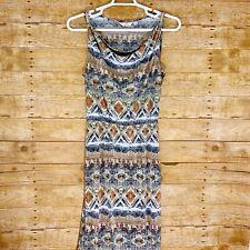 6d1aba81ea1c Mlle Gabrielle Womens Dress Size M Medium Maxi Sleeveless Multi Pattern