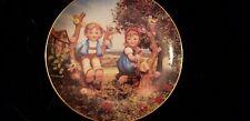 "M.J Hummel Little Companions 8"" Plate- ""Apple Tree Boy and Girl"" - Danbury Mint"