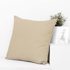 "Mocha Cotton canvas Soild Plain Throw PillowCase Cushion Cover Zipper-18""x45cm"