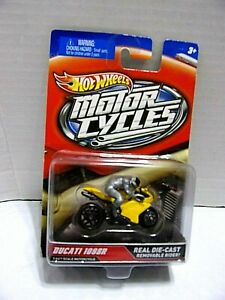 DUCATI 1098R-MOTORCYCLE w/REMOVABLE RIDER REAL DIE-CAST 1/64 SCALE LMT. ED.