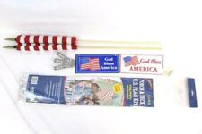 New listing Annin Porch And Deck U.S. Flag Kit 2 flags 12 x 18 Mounting Bracket