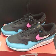 Nike Air Max 1 Jelly Swoosh Black/Laser Fuchsia-Blue Fury Men's CI2450-001 Shoes