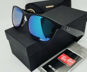 "RAY BAN black/blue mirror POLARIZED ""CHROMANCE"" RB4263-601SA1 55 sunglasses NEW"