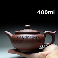 Yixing Purple Clay Teapot 400ml Handmade Tea Pot Chinese Kung Fu Kettle Ceramic