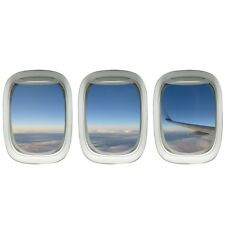 VWAQ Clouds Wall Decal - Airplane Wings Stickers Plane Window Clings