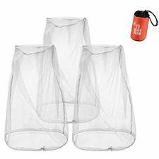 Juego 3 redes mosquitos sombreros mosquiteros Malla transpirable visibilidad