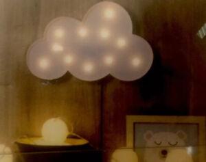 SALE % Atmosphera LED Lampe Wolke Weiß Tischleuchte / Wandleuchte 30,5x18,5