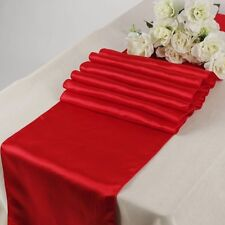 """12""""x 108"""" Inch Satin Table Runners Chair Swags Wedding Party Table Decoration"""