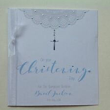 PERSONALISED Handmade CHRISTENING NAMING DAY Baptism CARD Son Godson Grandson