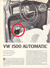 1968 VW Volkswagen 1500 Automatic Road Test & Technical Data Article