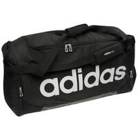 Adidas Linear Team Bag, Adidas Black Gym Bag, 3 SIzes - Black