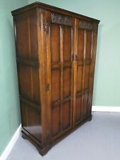 An Antique Style Oak Double Wardrobe ~Delivery Available~