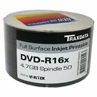 50x Ritek / Traxdata DVD-R 16x Full Surface Printable Discs 4.7GB Spindle Pack