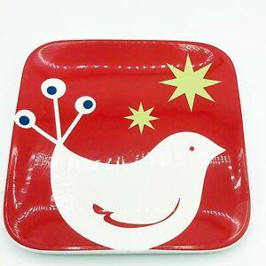 Tag Partridge Christmas Square Dessert Plate