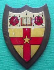 c1900 Unknown ? College English Public School University Crest Shield Plaque B