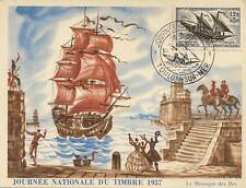 CARTE POSTALE MAXIMUM LE MESSAGER DES ILES TOULON 1957