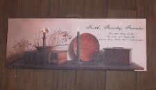 Battery Operated Lighted Canvas Print Faith Family Friends  Billy Jacobs 10x 34""