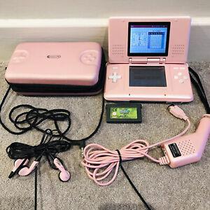 Nintendo DS Original Pink Console NTR-001 + spongebob game *See Description*