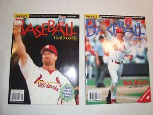 Nov. & Dec. 1998 Beckett Baseball Card Monthly Issues  #164 & 165, Mark McGwire