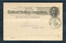 USA Ganzsachenumschlag One Cent postalisch befördert am 25.06.1894 - b3779