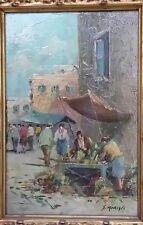Olio su Tavola Antico del XIX di G. Merigli 28 ½  X 18 ½ cm