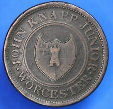 More details for 1813 john knapp junior worcester penny token 1d coin *[20365]