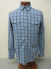 DOLCE & GABBANA SICILIA Made in Italy Plaid Western Cut Shirt Size 15 3/4 $440