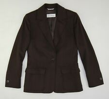 MaxMara Wool Flannel Blazer Jacket Women's 4 Brown
